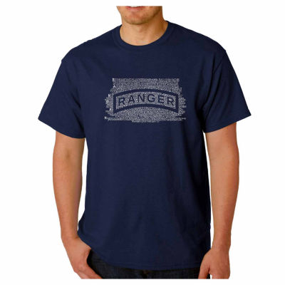 Los Angeles Pop Art the Us Ranger Creed Short Sleeve Word Art T-Shirt