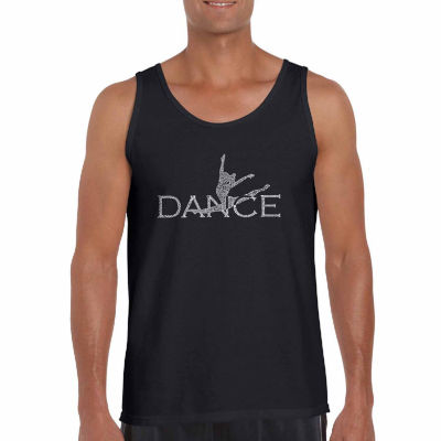 Los Angeles Pop Art Popular Styles of Dance Men'sWord Art Tank Top
