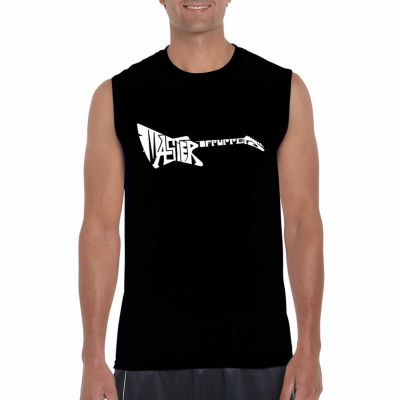Los Angeles Pop Art Sleeveless Master of Puppets Word Art T-Shirt