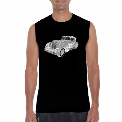 Los Angeles Pop Art Sleeveless Mobsters Word Art T-Shirt