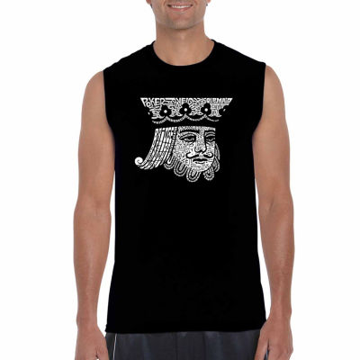 Los Angeles Pop Art Sleeveless King of Spades WordArt T-Shirt