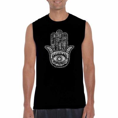 Los Angeles Pop Art Sleeveless Hamsa  Word Art T-Shirt