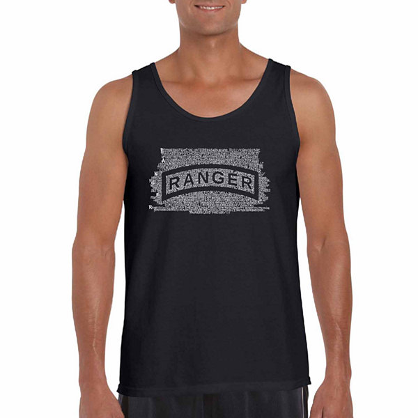 Los Angeles Pop Art Men's the Us Ranger Creed TankTop