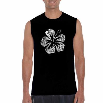 Los Angeles The Word Mahalo Sleeveless Word Art T-Shirt
