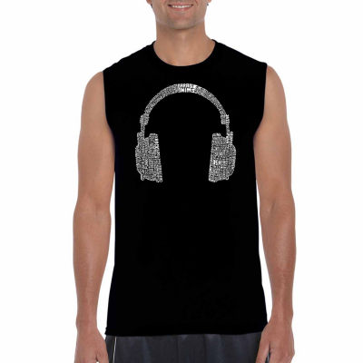 Los Angeles Pop Art Sleeveless 63 Different Genresof Music Word Art T-Shirt
