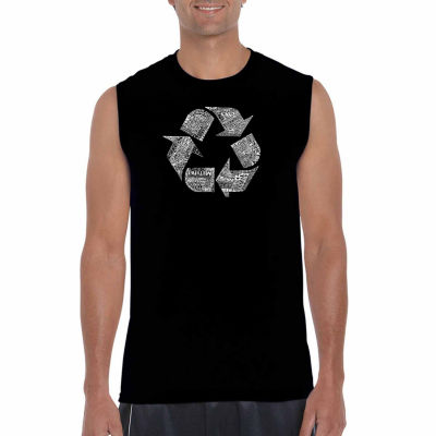 Los Angeles Pop Art Sleeveless 86 Recyclable Products Word Art T-Shirt