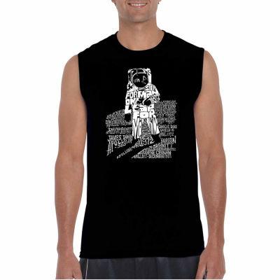 Los Angeles Pop Art Sleeveless Astronaut Word ArtT-Shirt