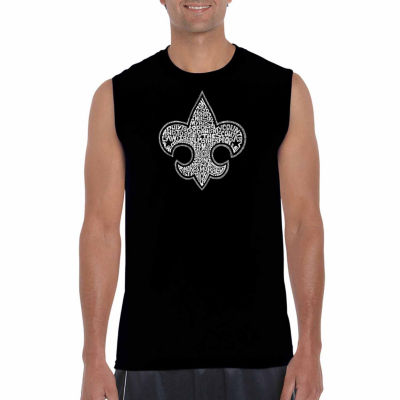 Los Angeles Pop Art Sleeveless Boy Scout Oath WordArt T-Shirt