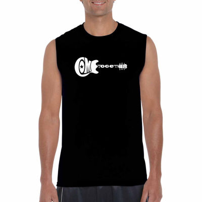 Los Angeles Pop Art Sleeveless Come Together WordArt T-Shirt