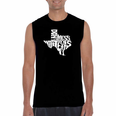 Los Angeles Pop Art Sleeveless Dont Mess With Texas Word Art T-Shirt