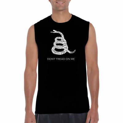Los Angeles Pop Art Sleeveless Dont Tread on Me Word Art T-Shirt