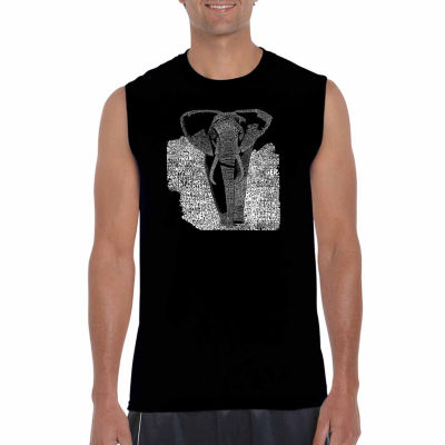 Los Angeles Pop Art Sleeveless Elephant Word Art T-Shirt