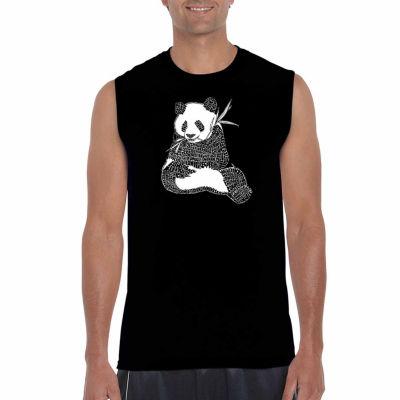 Los Angeles Pop Art Sleeveless Endangeblue SpeciesWord Art T-Shirt
