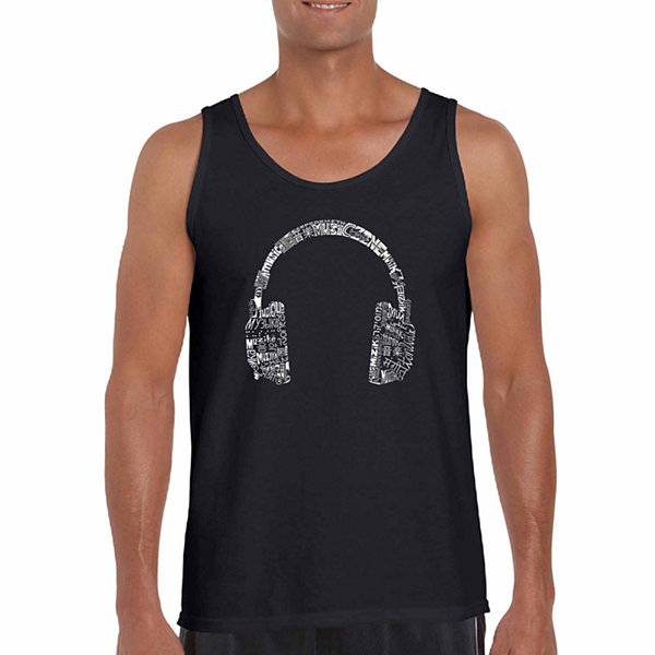 Los Angeles Pop Art Men's Languages Tank Top