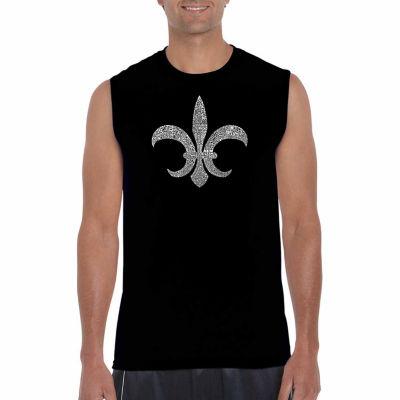 Los Angeles Pop Art Sleeveless Popular Louisiana Cities Word Art T-Shirt