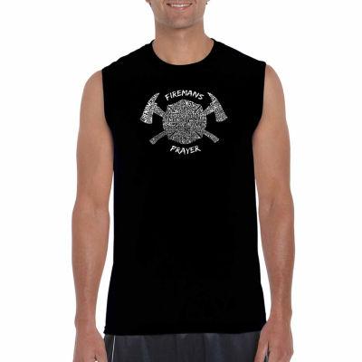 Los Angeles Pop Art Sleeveless Fireman's Prayer Word Art T-Shirt