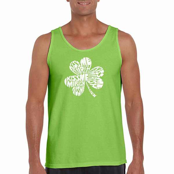 Los Angeles Pop Art Men's Kiss Me I'm Irish Tank Top