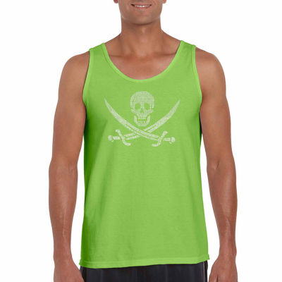 Los Angeles Pop Art Men's Lyrics to a Legendary Pirate Song Tank Top