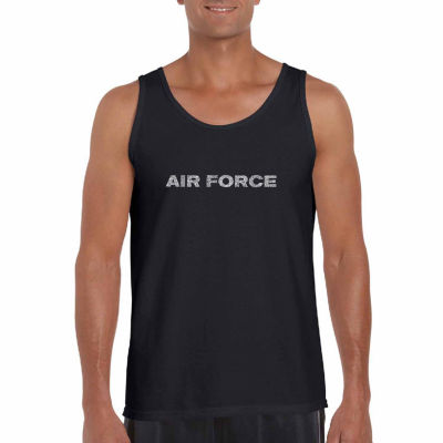 Los Angeles Pop Art Men's Lyrics to the Air ForceSong Tank Top