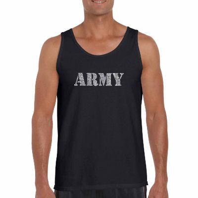 Los Angeles Pop Art Men's Lyrics to the Army SongTank Top