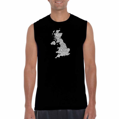 Los Angeles Pop Art Sleeveless God Save the QueenWord Art T-Shirt
