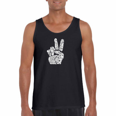 Los Angeles Pop Art Men's Peace Fingers Tank Top