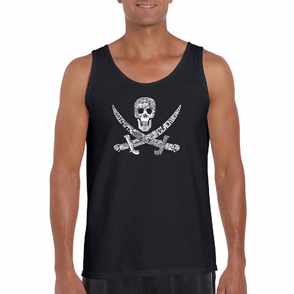 Los Angeles Pop Art Men's Pirate Captains Ships and Imagery Tank Top