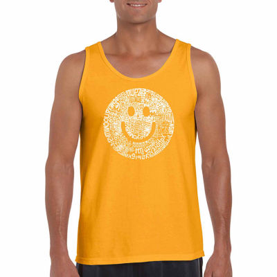 Los Angeles Pop Art Men's Smile in Different Languages Tank Top