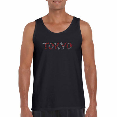 Los Angeles Pop Art Men's the Neighborhoods of Tokyo Tank Top