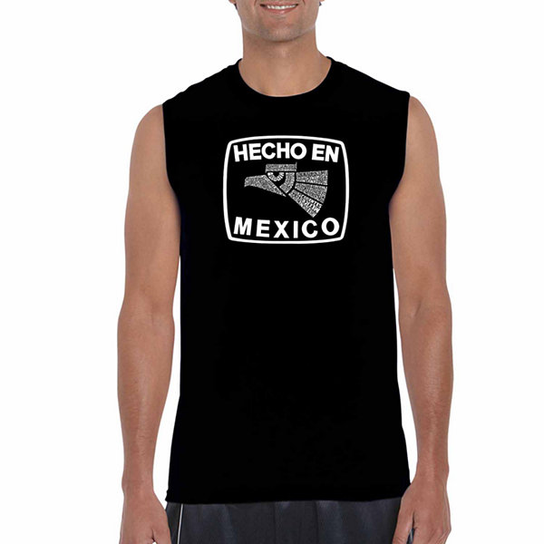 Los Angeles Pop Art Sleeveless Hecho En Mexico Word Art T-Shirt