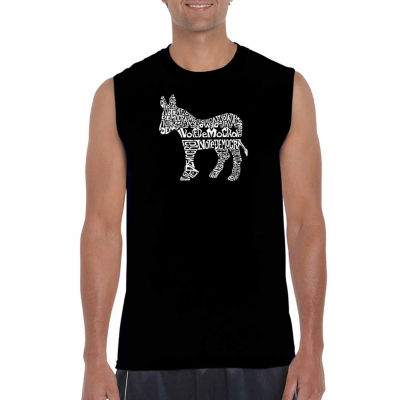 Los Angeles Pop Art Sleeveless I Vote Democrat  Word Art T-Shirt