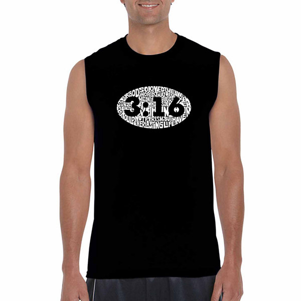 Los Angeles Pop Art Sleeveless John 3:16 Word ArtT-Shirt