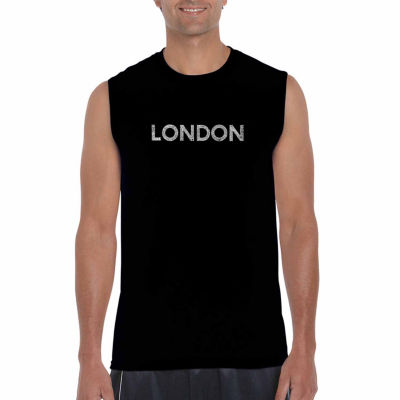Los Angeles Pop Art Sleeveless London Neighborhoods Word Art T-Shirt