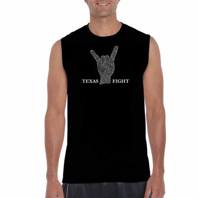 Los Angeles Pop Art Sleeveless Longhorns Fight Song Word Art T-Shirt