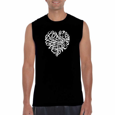 Los Angeles Pop Art Sleeveless Love Word Art T-Shirt