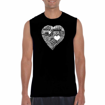 Los Angeles Pop Art Sleeveless Love in 44 Different Languages Word Art T-Shirt