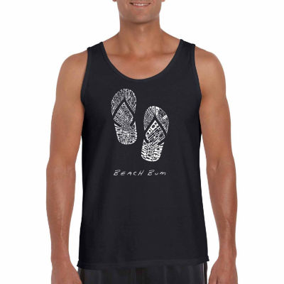 Los Angeles Pop Art Men's Beach Bum Tank Top