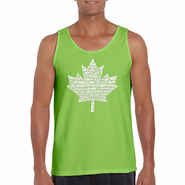 Los Angeles Pop Art Men's Canadian National AnthemTank Top