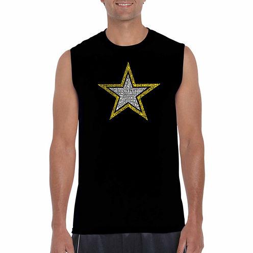 Los Angeles Pop Art Sleeveless Pattern Graphic T-Shirt