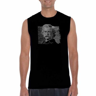 Los Angeles Pop Art Sleeveless Mark Twain Word ArtT-Shirt