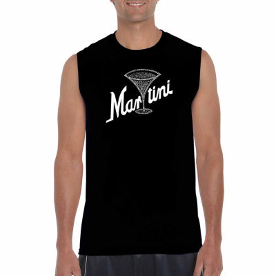 Los Angeles Pop Art Sleeveless Martini Word Art T-Shirt
