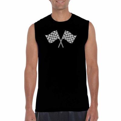 Los Angeles Pop Art Sleeveless Nascar National Series Race Tracks Word Art T-Shirt