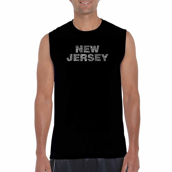 Los Angeles Pop Art Sleeveless New Jersey Neighborhoods Word Art T-Shirt