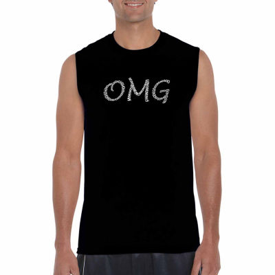 Los Angeles Pop Art Sleeveless Omg Word Art T-Shirt