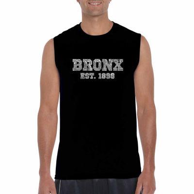 Los Angeles Pop Art Sleeveless Popular Neighborhoods in Bronx NY Word Art T-Shirt