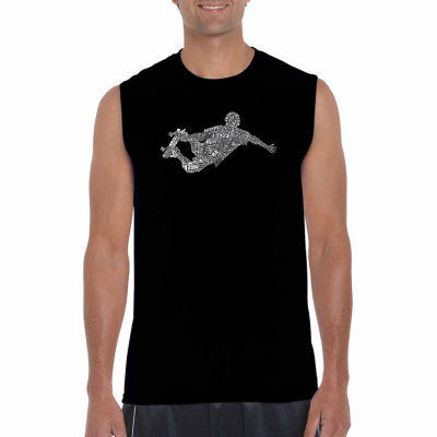 Los Angeles Pop Art Sleeveless Popular Skating Moves & Tricks Word Art T-Shirt