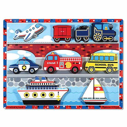Melissa & Doug® Vehicles Chunky Puzzle