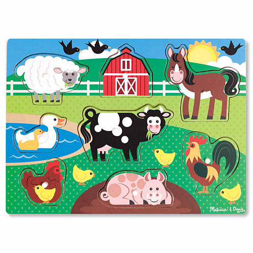 Melissa & Doug® Farm Peg Puzzle