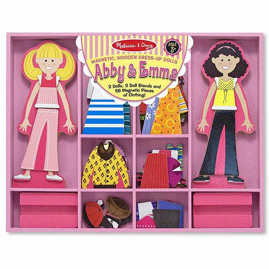 Melissa & Doug Abby & Emma Magnetic Dress-Up Girls Costume