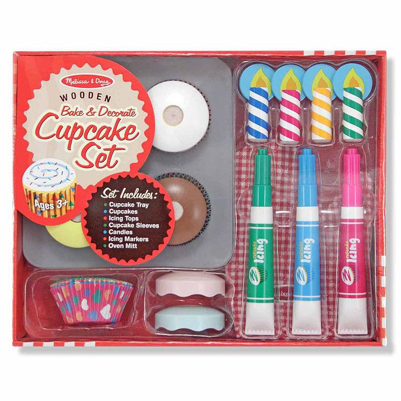 Melissa & Doug Bake & Decorate Cupcake Set, Multi-colored, One Size
